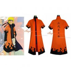 Naruto Uzumaki Outfit Jacket Coat Cosplay Costume Tailor-Made[G342]