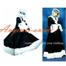 Japan Visual Rock  J-Rock Balck Dress Coat Gothic Punk Cosplay Costume Tailor-Made[G141]