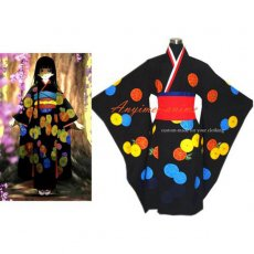 Hell Girl Enma Ai Japan Kimono Dress Cosplay Costume Tailor-Made[G259]