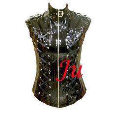 Gothic Lolita Punk Fashion Pvc Shirt Coat Jacket Tailor-Made[CK177]
