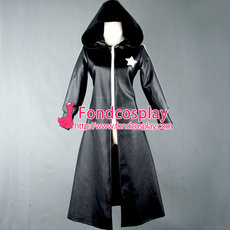 Faux Leather Black Rock Shooter Coat Jacket Cosplay Costume Tailor-Made[G767]