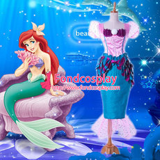 The Little Mermaid Princess Ariel Dress Movie Cosplay Costume Custom-Made[G934]