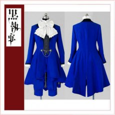 Black Butler Kuroshitsuji Ciel Phantomhive Women'S Blue Dress Cosplay Costume Tailor-Made[CK1353]