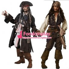 Pirates Of The Caribbean-Jack Sparrow Costume Johnny Depp Moive Cosplay Tailor-Made[G1427]