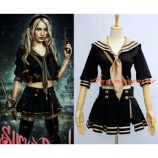 Sucker Punch Baby Doll Cotton School Uniform Movie Cosplay Costume Custom-Made[G589]