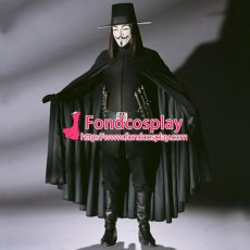 V For Vendetta Ugo Weaving V Cape Clown Cosplay Costume Tailor-Made[CK1446]
