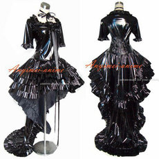 Chobits Chii Black Pvc Dress Cosplay Costume Tailor-Made[G352]