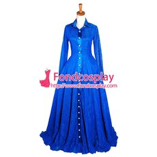Blue Lace Dress Gothic Lolita Long Gown Tailor-Made[G1630]