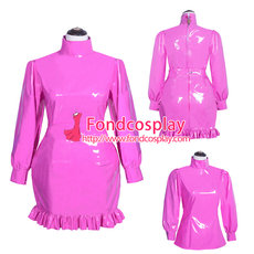 lockable PVC Gothic lolita punk outfit blouse-skirt Tailor-made [G3927]