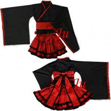 Gothic Lolita Punk Fashion Dress Outfit Japan Kimono Cosplay Costume Tailor-Made[CK255]