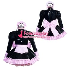 French Sissy maid PVC lockable dress Uniform cosplay costume Tailor-made[G3947]