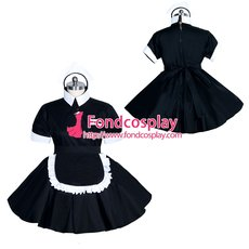 French Sissy maid Cotton lockable dress Uniform cosplay costume Tailor-made[G3949]