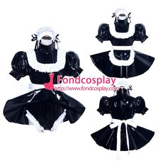 French Sissy Maid PVC Dress Uniform Cosplay Costume Tailor-made[G3970]