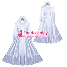 French Sissy Maid Satin Dress Uniform Cosplay Costume Tailor-made[G3972]