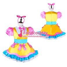 French Sissy Maid Satin Dress Uniform Cosplay Costume Tailor-made[G3974]