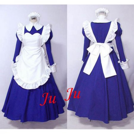 Sexy Sissy Maid Dress Cotton Uniform Cosplay Costume Tailor-Made[CK516]