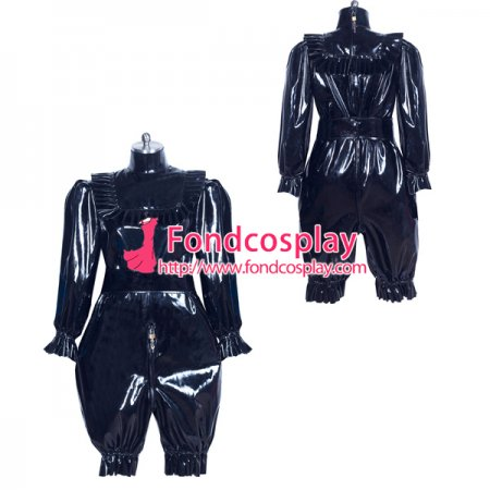 French lockable heavy PVC jumpsuits adult sissy baby Unisex costume Tailor-made[G3911]