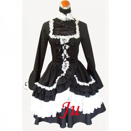 French Sissy Maid Gothic Lolita Punk Fashion Dress Cosplay Costume Tailor-Made[CK331]