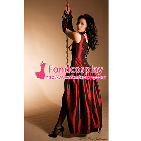 O Dress The Story Of O With Bra Gothic Punk Taffeta Dress Cosplay Costume Tailor-Made[G156]