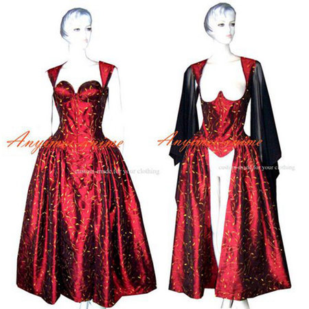 O Dress The Story Of O With Bra Red Taffeta Dress Cosplay Costume Tailor-Made[G316]