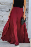 Burgundy Duchess Satin Maxi Skirt