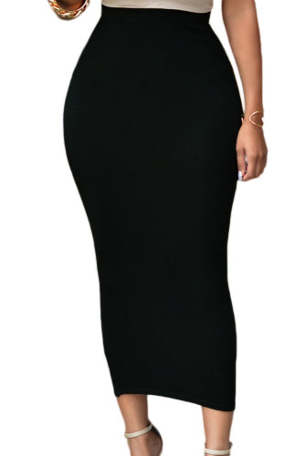 High-Waisted Bodycon Solid Color Skirts