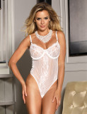Glamour Underwear Sexy Slip Loungwear With Steel Ring