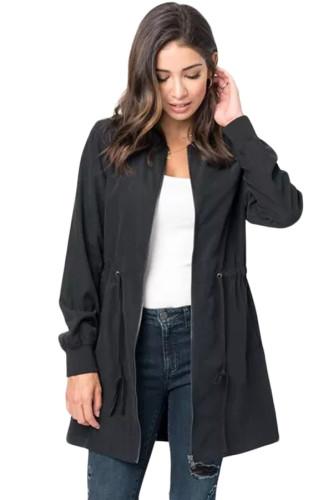 Turn-Down Collar Slim Fit Waist Lightweight Outcoat