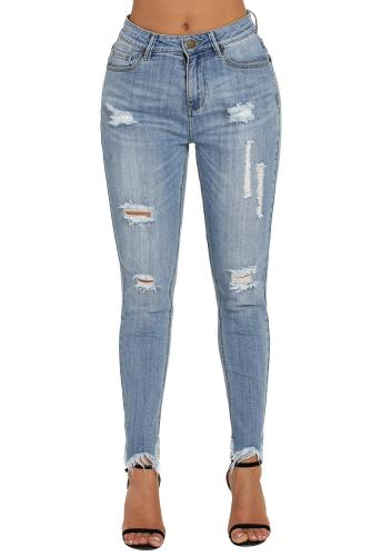 Medium Blue Wash Fringe Affair Flare Jeans