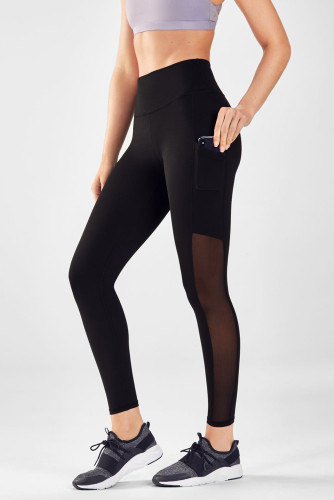 Pocket Mesh Splice Yoga Fitness Leggings