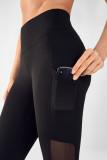 Pocket Mesh Splice Yoga Fitness Leggings