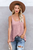 Scoop Neckline Sleeveless Metallic Cami Tank