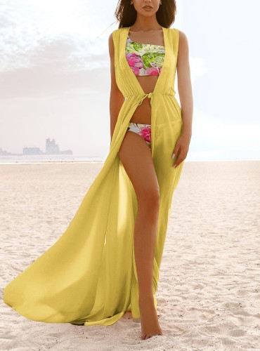 Strappy Sleeveless Light Long Beach Cover Up