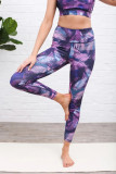 Print Yoga Sporting Crop Vest Leggings Set