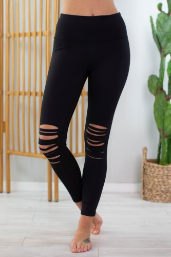 Ripped High Waist Tight Leggings