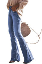 Wash Vintage Wide Leg Long Jeans