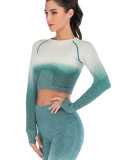 Yoga Top Full Sleeve Round Collar Athletic Outfit