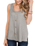 Appealing Pure Color Sleeveless High-Low Hemline Top