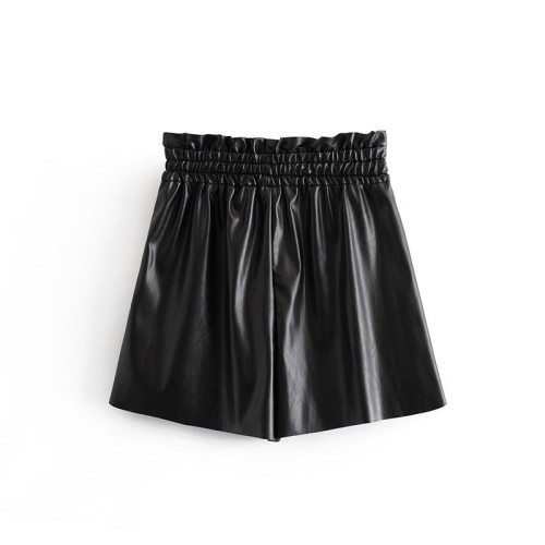 Black High Waist Casual Tingt Short