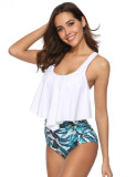 Super Faddish 2 Pieces Printing Swimwear High Rise Great Quality