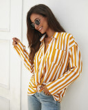 Two-Colour Striped Full Sleeve Shirt