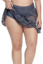 Mesh Crochet Lace Skirted Bikini Bottom