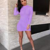 Sexy Hairy Bodycon Dress Women Autumn 2020 Fashion Dresses Party Long Sleeve Clubwear Furry Solid Basic Mini Dress Slim