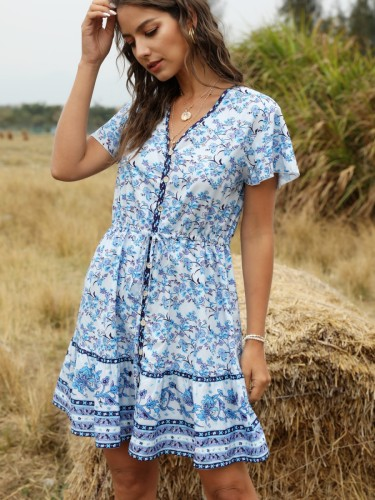 2020 New Fashion Trend Bohemian Style Slip Maxi Dress