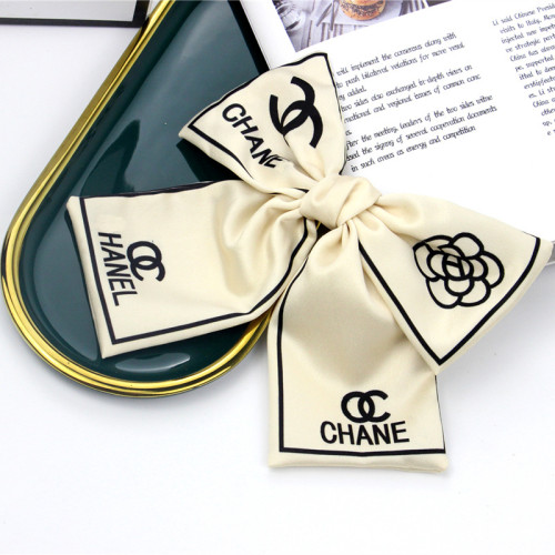 Big letter print double bow hair ring headline hair ornament