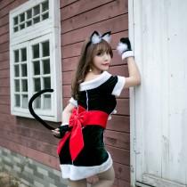 Christmas Costume(Headwear+Dress+glove+belt)
