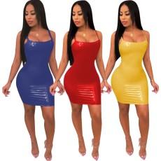 PU dress