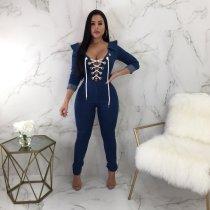 fashion jeans jumpsuit