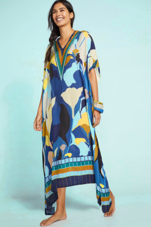 Beach long gown vacation dress
