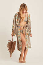 Printed sunscreen cardigan Beach dress(no bikini)